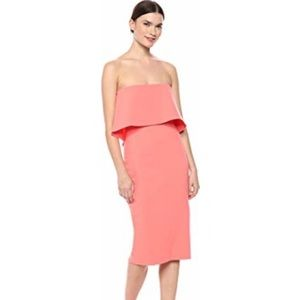 Likely Driggs Peach Strapless Dress